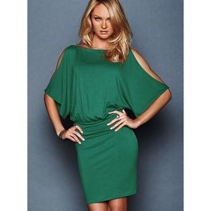 Victoria's Secret Moda Green Blouson Dress